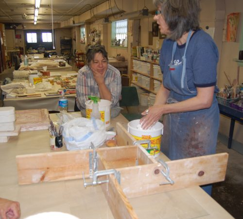 Lisa Muller Tile Making