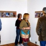 Gallery goers take in an exhibition in the galleries.